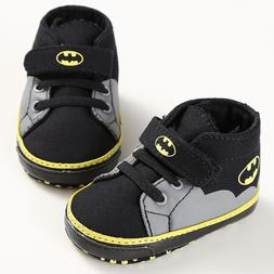 Newborn Baby Kids Boys Cute Cartoon First Walkers Batman Lac