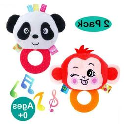 Newborn Baby Rattles and Teethers Toys for Infants 0 3 6 12