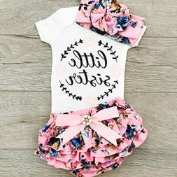 Newborn Kids Baby Girls Outfit Floral Clothes Romper Jumpsui