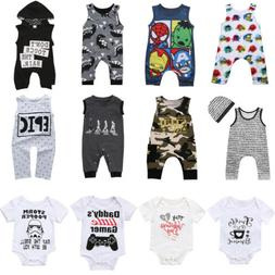Newborn Infant Kid Baby Boy Girl Romper Bodysuit Jumpsuit Cl