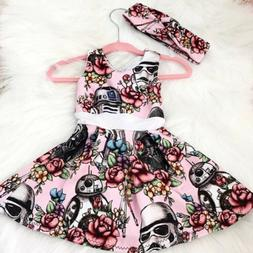 Newborn Toddler Baby Girl Star Wars Party Pageant Tutu Dress