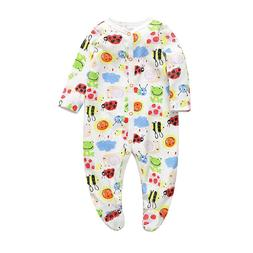Newborns Baby girl boy Rompers clothes Toddler Infant Long S