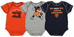 Outerstuff NFL Infant Chicago Bears 3 Pack Creeper Set