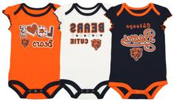 Outerstuff NFL Infant Girls Chicago Bears Touchdown 3 Pack C
