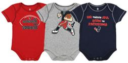 Outerstuff NFL Infant Houston Texans 3 Pack Creeper Set