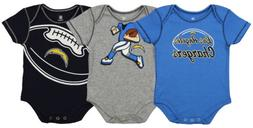 Outerstuff NFL Infant Los Angeles Chargers 3 Pack Creeper Se