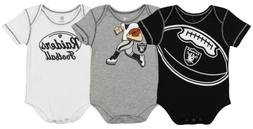 Outerstuff NFL Infant Oakland Raiders 3 Pack Creeper Set