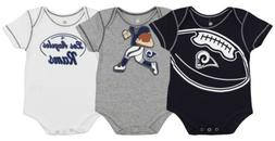 Outerstuff NFL Infant St. Louis Rams 3 Pack Creeper Set