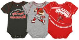 Outerstuff NFL Infant Tampa Bay Buccaneers 3 Pack Creeper Se