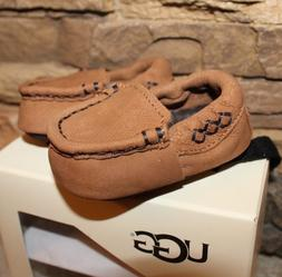 NIB UGG Infant SIVIA Leather Moccasins CHESTNUT UNISEX 2/3 6