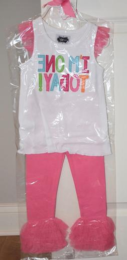 NIP Mud Pie I'm One Girls Birthday Tunic Set 12-18 Months
