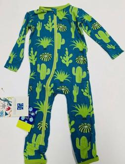 NWT Kickee Pants  Seagrass Cactus Coverall Zippered