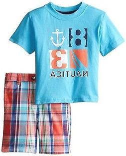 Nautica NWT 12M Baby Infant Boy 2pc Short Sleeve Tee Set Out