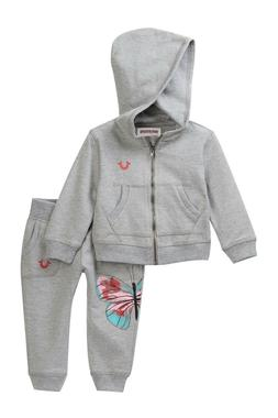 NWT $79 True Religion   French Terry Sweatsuit Baby Girls 12