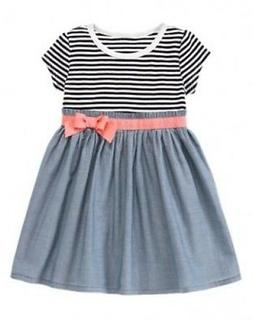 NWT Gymboree Animal Party Striped Chambray Dress 12-18 month