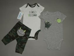 NWT, Baby boy clothes, 12 months, Carter's Monster set/ **SE