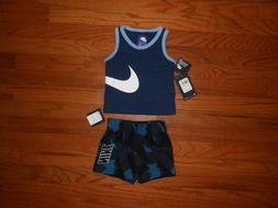 NWT Nike Baby Boys 2pc nb shirt and short outfit set, size 1