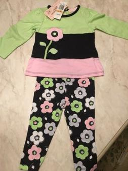 Girls KIDS HEADQUARTERS pineapple outfit 12-18 24M 3T 4 5 6 NWT white leggings