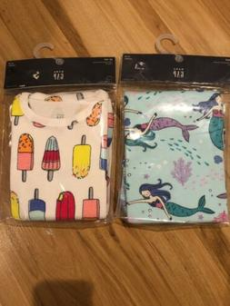 NWT Baby Gap girl short SUMMER pajamas mermaid popsicle 12 1