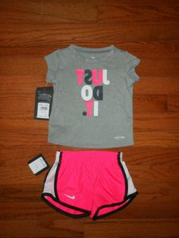 nwt baby girls 2pc grey shirt