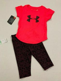 Under Armour NWT baby Girls Outfit Top Capri Leggings 12 18
