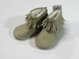 NWT Baby Gap Size 6 12 Months Moccasins Sherpa Booties Crib