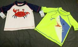 NWT Boys Carter's Rash Guard Crab Shark 12, 24 Months Short