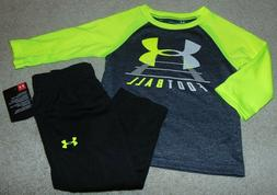 ~NWT Boys UNDER ARMOUR Football Neon Outfit! Size 12 Months