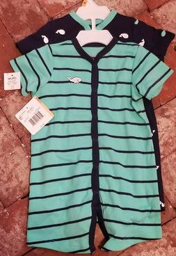 NWT Little Me Boys Set of 2 Rompers - Size 12 months- Whales