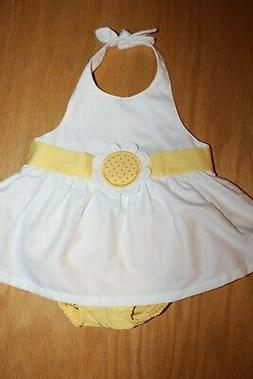 NWT Gymboree Daisy Giraffe 12-18 Months White Flower Dress Y