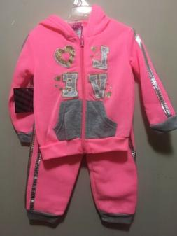 NWT, Girl's Size 12 Months, 2 Piece Pink& Gray Outfit by Div