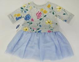 NWT Old Navy Girls Size 12-18 Months 2t 3t or 5t Blue Flower