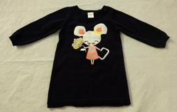 NWT Gymboree Hello Yellow Mouse Flower Sweater Dress 12-18 M