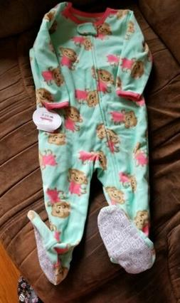 NWT Size 12 Months Outfit Blanket Sleeper Monkeys