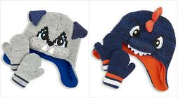 NWT The Children's Place Baby Boys Dinosaur Dog Hat Mittens
