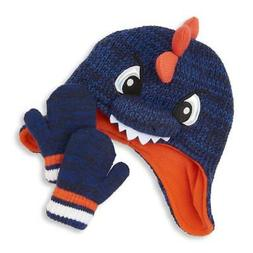 NWT The Children's Place Baby Boys Dinosaur Hat Mittens Set