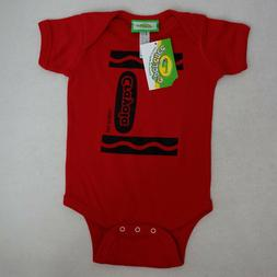 NWT Unisex 12 Months Crayola Radical Red Short Sleeve One Pi