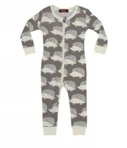 Milkbarn Organic Cotton Hedgehog Footed Romper Baby 9-12 Mon