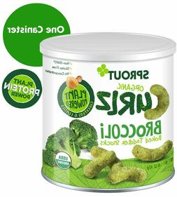 Sprout Organic Curlz Toddler Snacks, Broccoli, 1.48 Ounce Ca