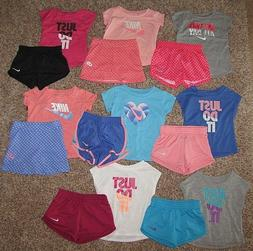 NIKE Outfit Set Shirt Shorts Skort Girls 6-9 12 18 24 Months