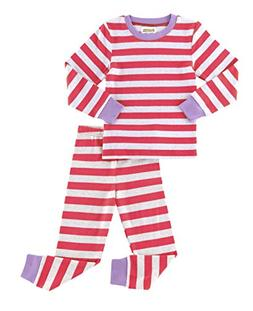 Fiream Girls Boys Pajamas Set 100% Cotton Stripe Long Sleeve