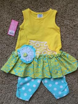 Peaches n Cream 2piece Set NWT Size 12month