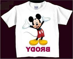 personalized disney mickey mouse birthday t shirt