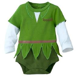 PETER PAN~Baby~BODYSUIT with CAP~COSTUME~Cotton~Infant~0-24M
