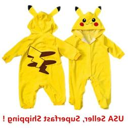 Pokemon Go Toddlers Infant Baby Boy Girls Coat Pikachu Outfi