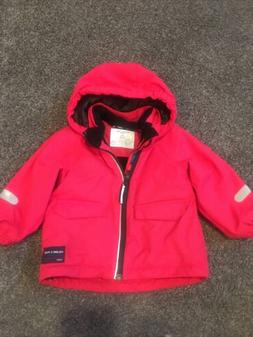 Polarn O. Pyret Fleece-Lined Kids Coat with Removable Hood S