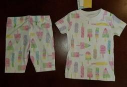 Kissy Kissy Popsicle Toddler Girl Pajamas New 12-18 Months P