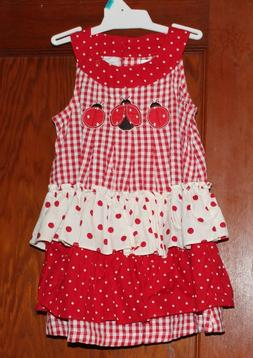 Red checked Spring/Summer ladybug dress 12 months