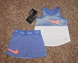 NIKE Set Girls Shirt & Skort 12 Months Royal Pulse Blue