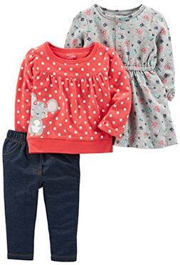 Simple Joys by Carter's Baby Girls' 3-Piece Playwear Set, Re